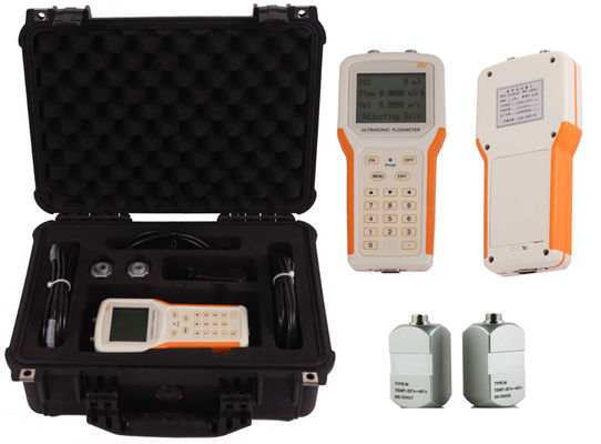 China ABS Material Data Logger Transit Time Ultrasonic Flow Meter Handheld 0.003m/S Sensitivity factory