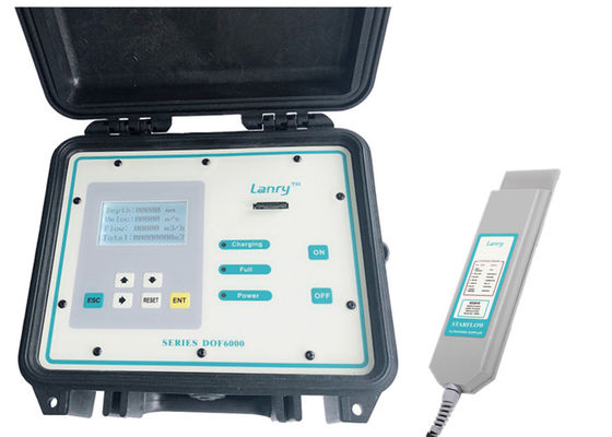 China 4-20mA Portable Doppler Ultrasonic Flow Meters For 200-6000mm Open Channel supplier
