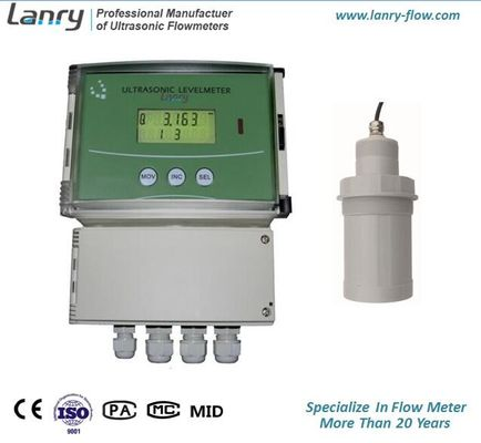 China 4 Digit LCD Ultrasonic Level Meter Remote Version With Separate Probes factory
