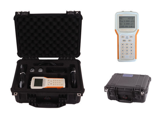 China 0.003m/S Sensitivity Handheld Transit Time Ultrasonic Flow Meter With Data Logger factory