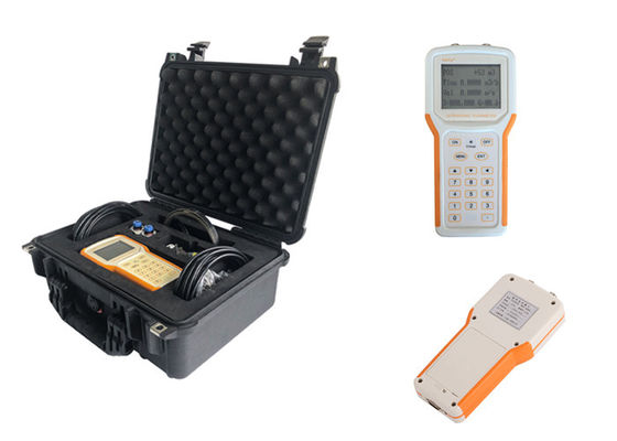 China Transit Time Handheld Ultrasonic Flow Meter Clamp On Type Liquid Measurement factory