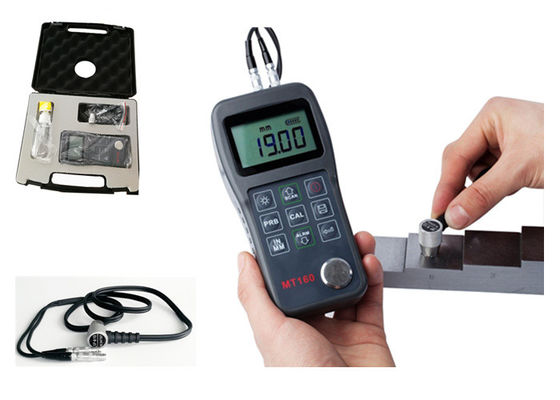 Handheld Ultrasonic Steel Thickness Gauge Large LCD For Easy Reading