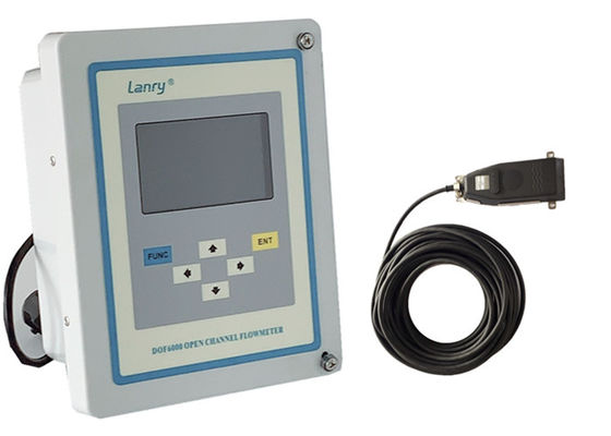 Area Velocity Ultrasonic Open Channel Flow Meter With Data Logger 16GB