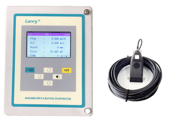 Waterproof IP68 Ultrasonic Open Channel Flow Meter ±1% Measured Velocity