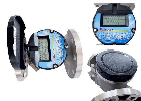 Stainless Steel Ultrasonic Water Meter Double Channels RS485 Output IP68 Protection