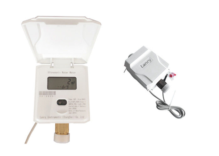 White Ultrasonic Water Meter Low Starting Flow Rate Strong Anti - Interference