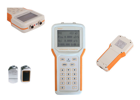 China Lightweight Handheld Ultrasonic Liquid Flow Meter With Data Logger Function distributor