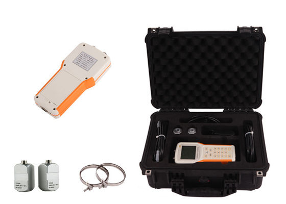 China OCT Communication Handheld Ultrasonic Flow Meter Transit Time IP68 Protection distributor