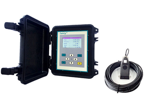 4-20mA Ultrasonic Open Channel Flow Meter , Ultrasonic Flume Flow Meter